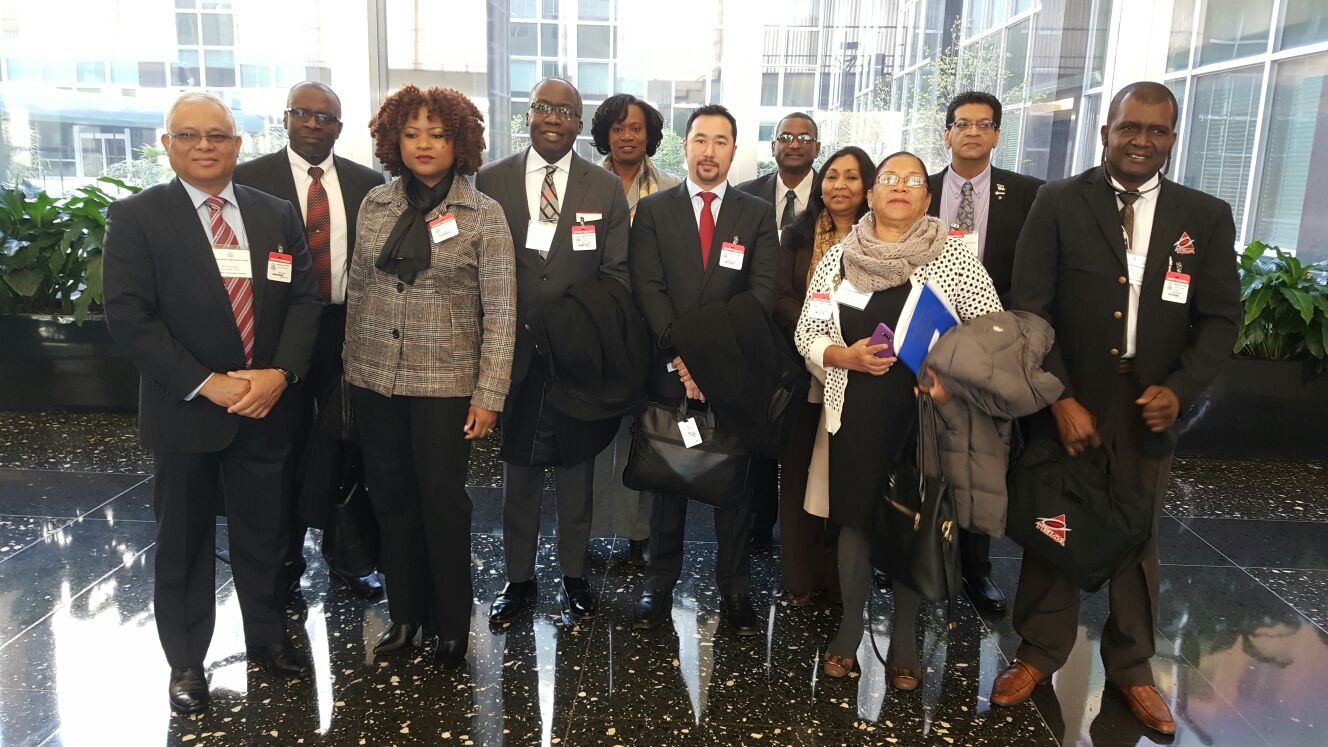 Trinidad and Tobago delegates at the International Crisis Communication and National Security Project